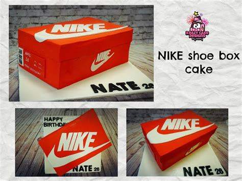 How To Make A Cake Box Out Of Paper - how to make nike shoe box cake เค ก กล องรองเท า nike