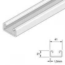 unistrut shallow light gauge plain channel