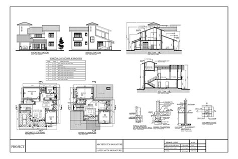 house plan section and elevation house plans sections elevations pdf