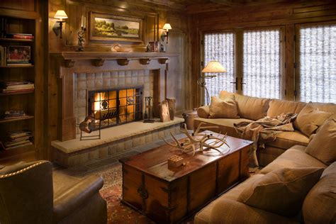 traditional family room ideas get cozy a rustic lodge style living room makeover