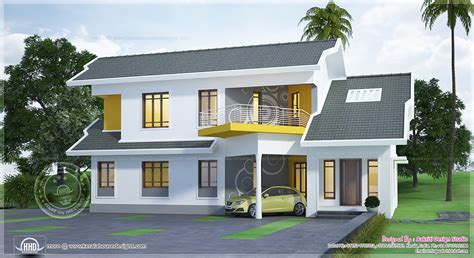 Unique modern home in 2600 sq ft home kerala plans