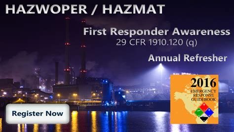 29 cfr 1910 section 120 hazwoper training series courses national environmental