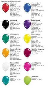 colors in hawaiian hawaii balloon company color chart