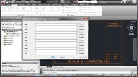 tutorial autocad for electrical autodesk autocad electrical 2014 tutorial title block