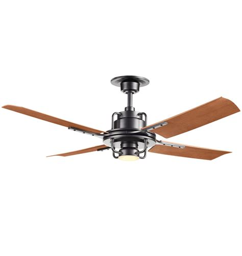 peregrine ceiling fan reviews peregrine ceiling fan with led matte black walnut brown