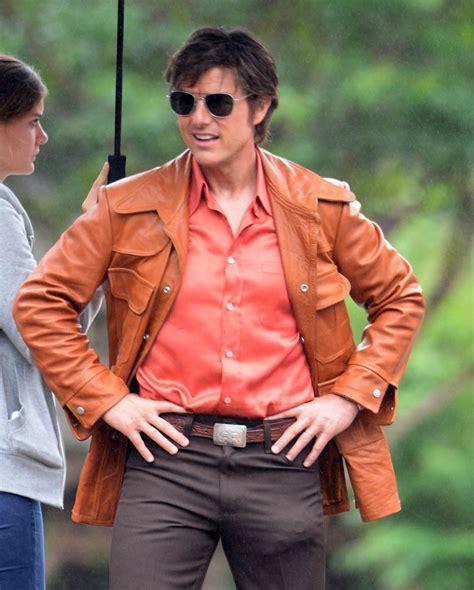 film tom cruise 2017 mena tom cruise motorcycle brown leather jacket 2017