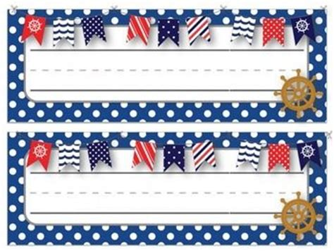 Nautical Themed Names | desk name tags nautical desks and name tags on pinterest