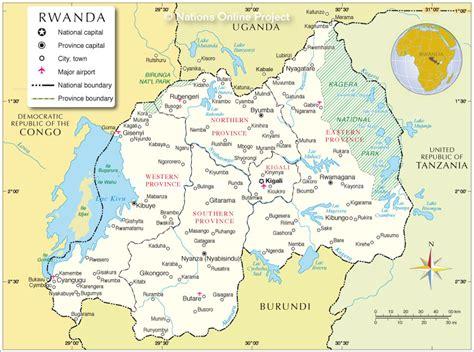 rwanda map map of rwanda republic of rwanda maps mapsof net