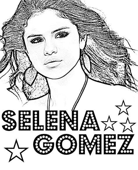 selena gomez coloring page topcoloringpages net free