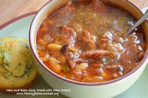 ham and bean soup made with ham hocks family balance sheet
