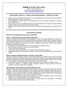 director of operations resume sles operations manager cv template