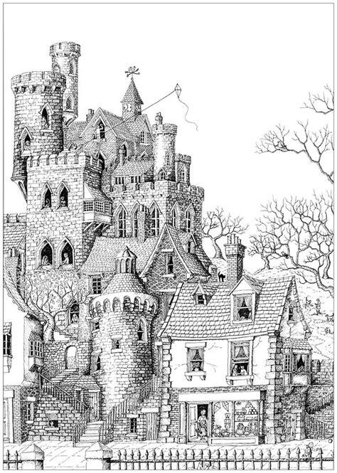 impressive castle   typical village