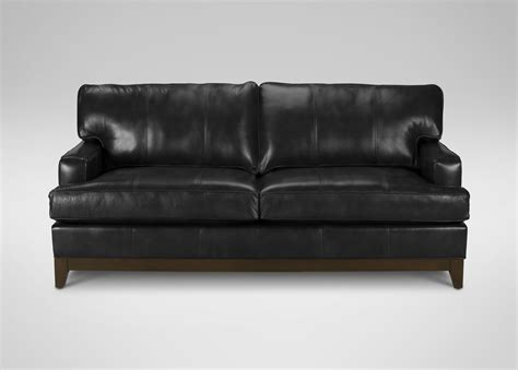 leather sofa dimensions arcata sofa ethan allen