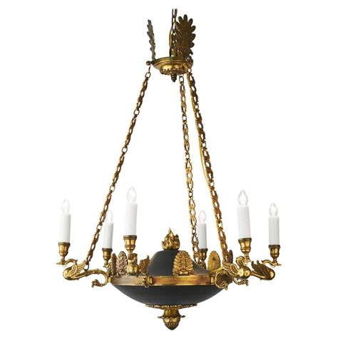 bronze empire style chandelier from jean marc fray