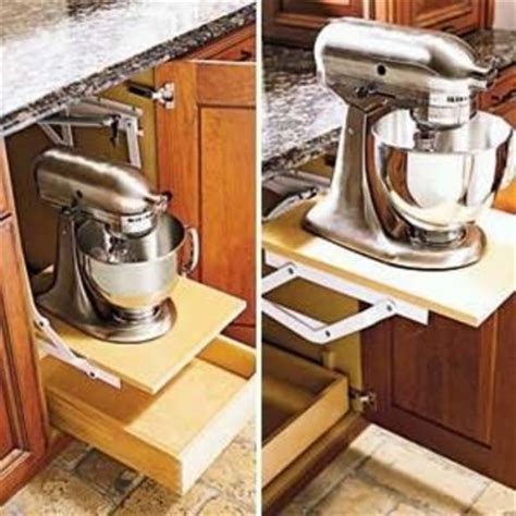 pop up shelf by wood mode and kitchen aid mixer can t