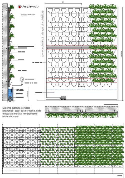giardini dwg giardino verticale idroponico