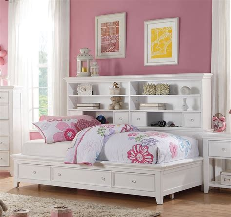 Oak Bedroom Vanity Lacey White Storage Twin Bookcase Daybed