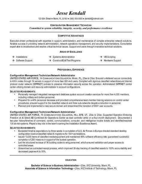 configuration management resume the best letter sle