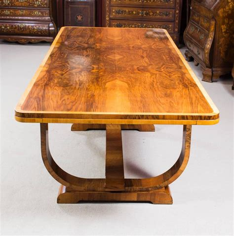 Antique Dining Room Furniture 1930 by Antique Deco Burr Walnut Dining Table And Six Chairs