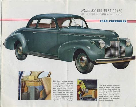 where did chevrolete from 1940 chevrolet master 85 business coupe cars trucks