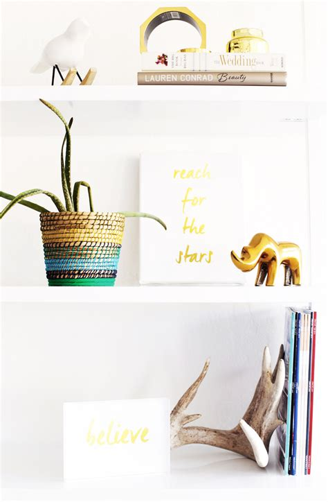 diy gold place card holders kristi murphy diy ideas refresh your workspace with diy gold office supplies
