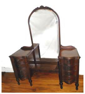 Vanity Length Walnut Vanity With Length Mirror Front Porch Antiques