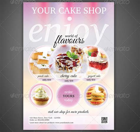 cake flyer template free cake flyer templates cake ideas and designs