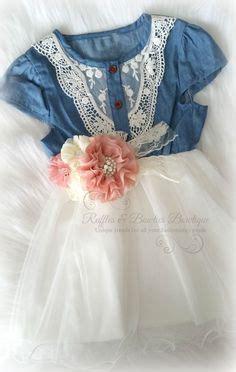 Dress Cool Denim Flower ivory flower dresses flower dresses and