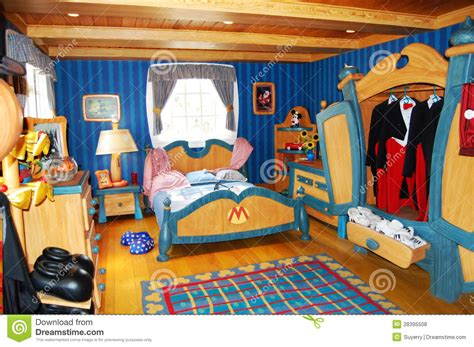 Mickey And Minnie Mouse Bedroom Mickey Mouse S Bedroom At Disneyworld Editorial Stock