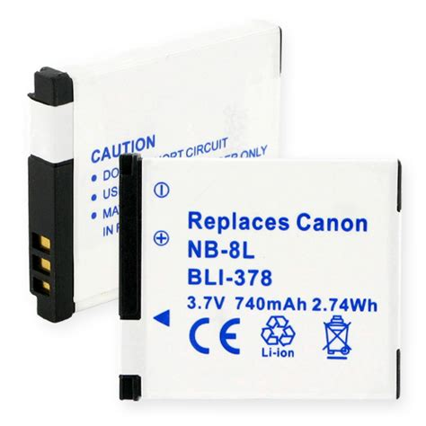 Sdv Battery For Canon Nb 8l canon nb 8l digital battery canon nb 8l li ion 740mah
