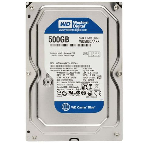 Hdd Hardisk 500gb Sata wd blue 500 gb sata drives dara for computers