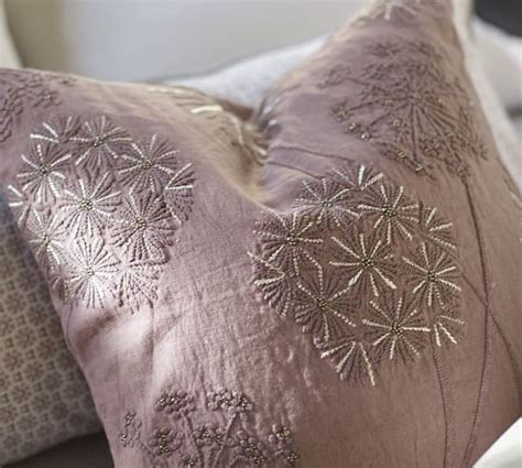 Pottery Barn Linen Pillow Covers by Starburst Embroidered Linen Pillow Cover Pottery Barn