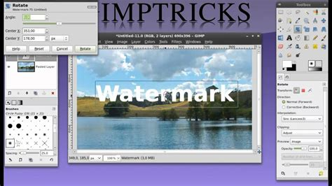 tutorial watermark how to make a watermark in gimp beginner tutorial youtube