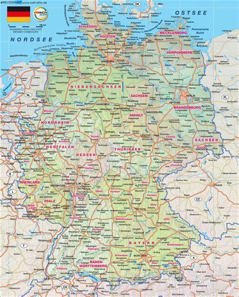 karta deutschland landkarte deutschland