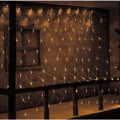 curtain string lights 6x4m led fairy string net lights window curtain drape