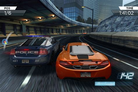 need for speed mobile get more speed in need for speed most wanted mobile gotgame
