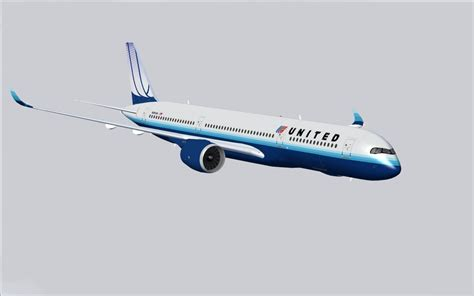 united flight united airlines airbus a350 900 xwb for fsx