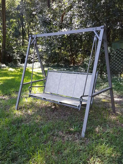 comfortable porch swing letgo comfortable metal porch swing in mobile al