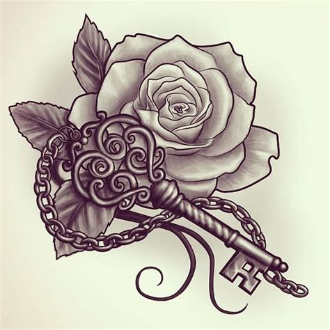 tattoo online seminar keys rose tattoos and roses on pinterest