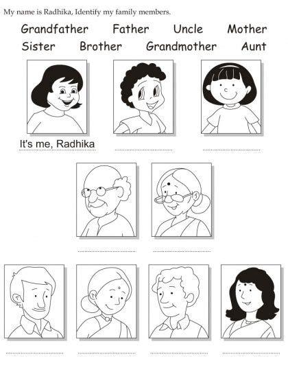 preschool coloring pages my family my family activities for preschool para colorear buscar