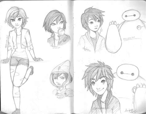Big 6 Sketches by Big 6 Sketches By Andrea365 On Deviantart