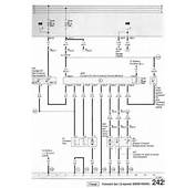 VW Passat 1993 Cooling Fan Control Module Input/Output Listing