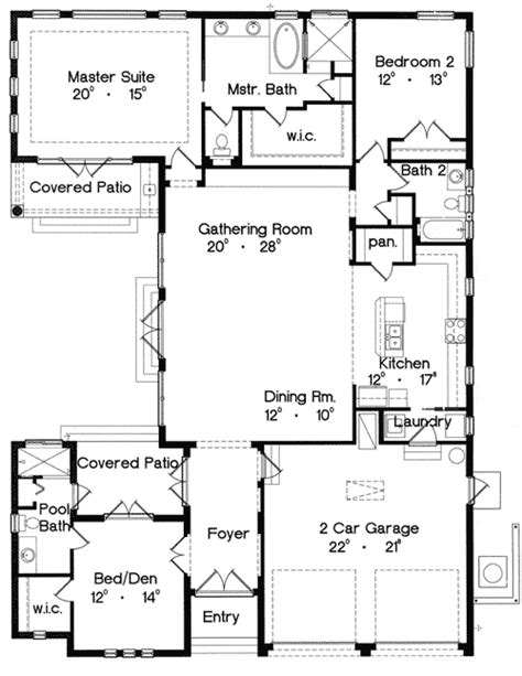 casita home plans mediterranean home plan with casita 4213mj 1st floor