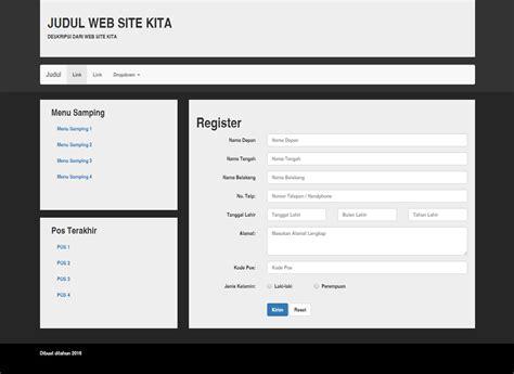 membuat web menggunakan bootstrap membuat form sederhana dengan menggunakan bootstrap musowwir
