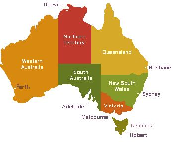 australia map with capital cities australia map with cities and states
