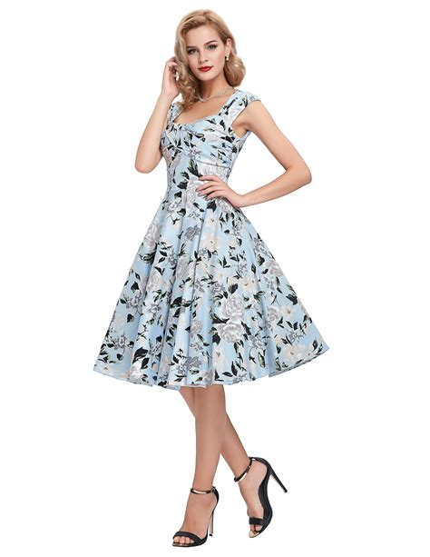 swing prom dress womens retro swing dress 50s housewife floral swing pinup