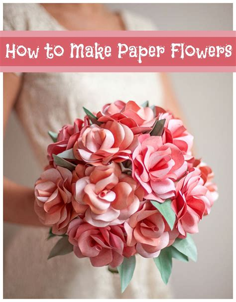 How To Make A Small Paper Flower - how to make paper flowers 40 diy wedding ideas