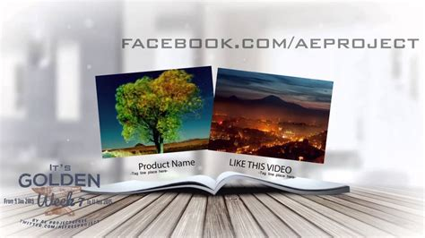 template after effects book after effects template sales with book promo gw7 youtube