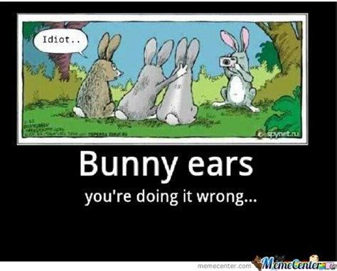 Funny Easter Bunny Memes - bunny ears you re doing it wrong pictures photos and