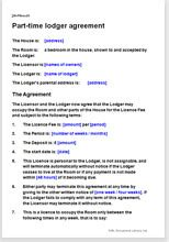 free lodger agreement template part time lodger agreement residential leases and licences